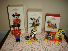 Hallmark 3  Mickey Mouse Ornaments From 2008, 2012, 2016 - $34.99