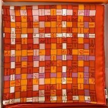 Hermes Bolduc Silk Scarf au Carre scarf 90 Brand New - $470.25