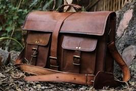 HLC 16' Inches Classic Adult Unisex Cross Shoulder Leather Messenger La... - $121.97