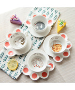 Cute Cat Cartoon Mugs Cup Set Ceramic Plates Coffee Animal Heat-resistan... - $17.75
