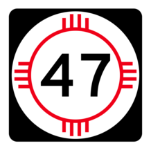 New Mexico State Road 47 Sticker R4130 Highway Sign Road Sign Decal - $1.45+