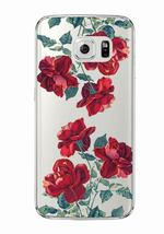 Red flower Soft Clear TPU Phone Case Cover For Samsung Galaxy Edge S8 6 - $7.67