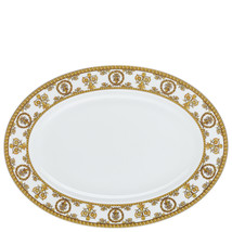Versace Baroque Bianco Platter 34 cm Porcelain Made in Italy - $261.45