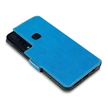 Slim Profile Composite Cover Black Wallet Book Blue Case  Galaxy A9 2018 - $19.87