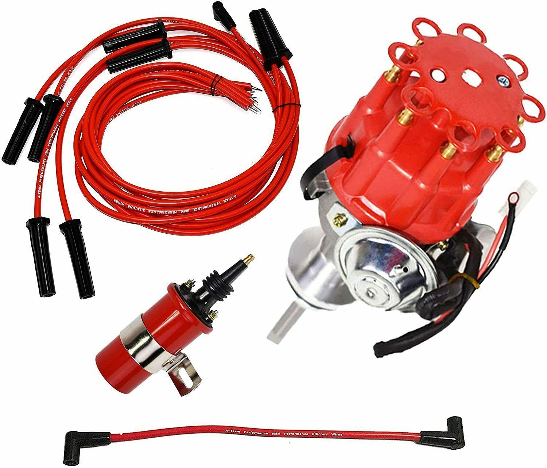 Chrysler Dodge Mopar BB R2R Distributor 413 426 440 8mm Spark Plug 45K Volt Coil