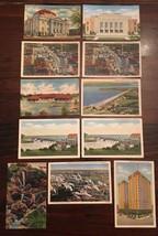 Postcard lot Oklahoma City Grand River Dam Curteich Linen Colourpicture Tulsa - $23.38