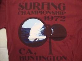 Op Surfing Champions 1972 Huntington CA Surfer Souvenir T Shirt Size L - $17.66