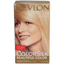 Revlon ColorSilk Beautiful Permanent Color, [04] Ultra Light Natural Blonde 1 ea - $14.84