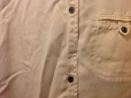 Pulp Long Sleeve Button Up Collared Sandy Colored Shirt Sz PL image 7