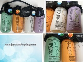 Vitabath Gift Set Body Wash 4-2 OZ Bottles Spearment Orange Coconut Lavender - $9.99