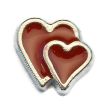 Hearts Charm for Floating Locket (LCHM-148) - $0.99