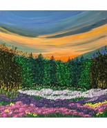Dawning Meadow, Original Painting, Acrylic, Signed, 12 x 12, Unframed - $145.00