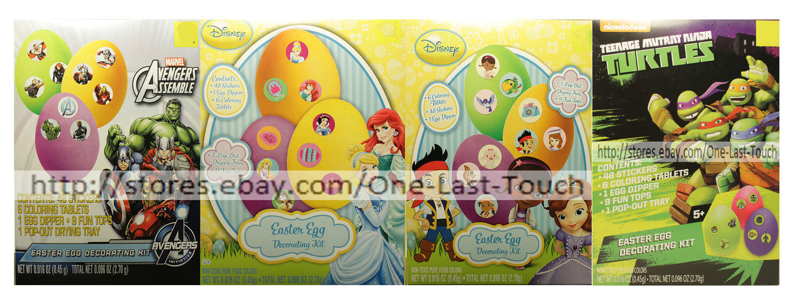 *DUDLEY'S* Egg Decorating Kit EASTER Non-Toxic CHARACTERS For Kids *YOU CHOOSE*