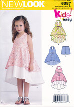 New Look 6387 Girls Halter Dress Pants Simplicity Sewing Pattern Child Sizes 3-8 - $7.95
