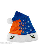 NEW YORK METS FOREVER COLLECTIBLES MLB KNIT FLEECE SANTA HAT - $17.09