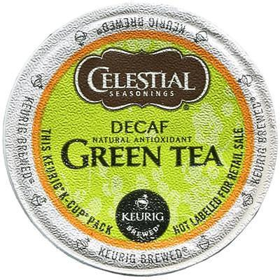 Primary image for Celestial Seasonings Decaf Green Tea, 48 count Keurig K cups, FREE SHIPPING