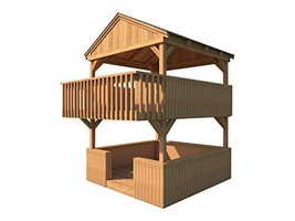 Playhouse Fort Plans DIY 2 Story Backyard Playground Kids Toys Build You... - $18.95