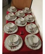 "Vtg Japan Nippon Yoko Boeki Teacup&Saucer and 8"" Cookie Plates Set for Ten - $250.00"