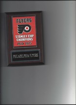 Philadelphia Flyers Stanley Cup Banner Plaque Champions Champs Hockey Nhl - $3.95