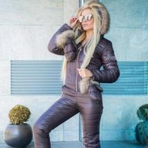 Women's Brand Fashion Hooded Ski Suit Snow Jumpsuit image 14