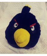 Black Angry Birds Plush Throw Ball Toss Pillows toy - $15.99