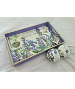 Michel Design Works Lavender Rosemary Vanity Decoupage Wooden Tray & Bath Bombs - $57.99