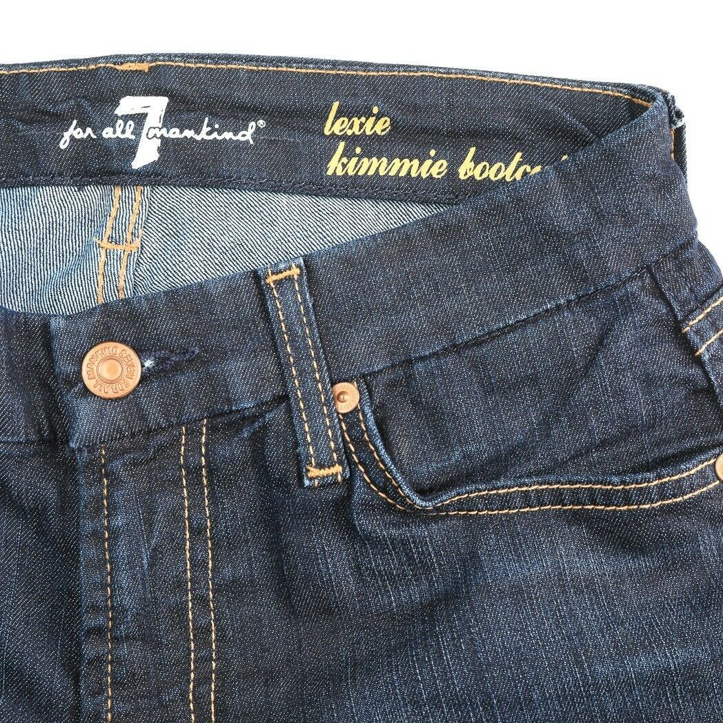 Primary image for 7 For All Mankind 7FAM Lexie Kimmie Dark Wash Boot Cut Jeans Womens 26 26x28