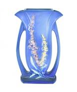 """Vintage Roseville Pottery USA Blue Foxglove Floral Flower 9.25"""" Vase 49-9 - $217.79"""