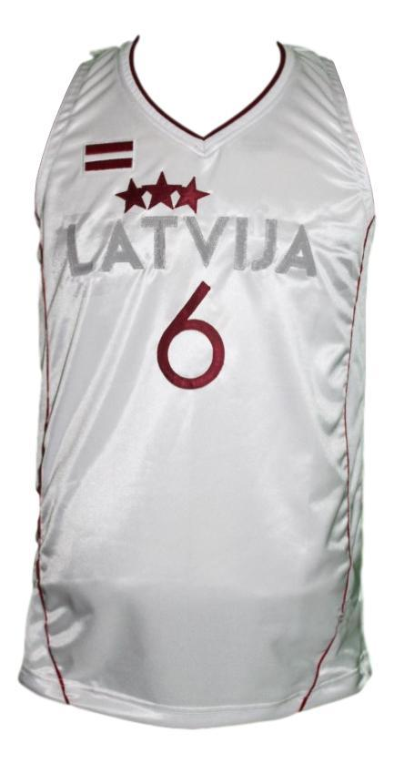 Kirstaps porzingis team latvia basketball jersey white   1