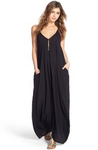 NEW Nordstrom Elan Black V-Neck Cover Up Beach ... - $29.40