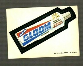 "1973 Wacky Packages Original Series 2 ""GLOOM TOOTHPASTE"" Sticker Card TB - $4.49"