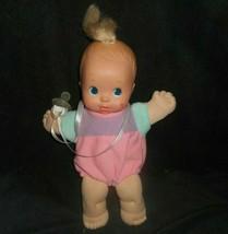 VINTAGE 1992 MAGIC NURSERY MATTEL TRIPLET GIRL DOLL STUFFED ANIMAL PLUSH... - $14.03