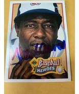 Hank Aaron Hand Signed Autographed Atlanta Braves Baseball Card W/COA HOF - $84.00