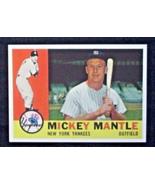 1960 Topps Baseball #350 Mickey Mantle [New York Yankees] RP - $3.00