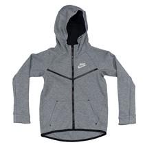 Nike Boys Sportswear Tech Fleece Windrunner Hoodie Grey Size 7 6-7 Yrs - $40.37