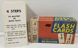 Vintage 1962 Milton Bradley Self Teaching Multiplication Flash Cards 9203 - $5.93