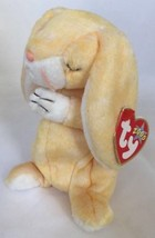 Grace Easter Bunny Rabbit Stuffed Animal Yellow Beanie Baby Ty 2000 Pray... - $14.70
