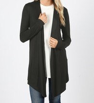 Black Open Cardigan, Lightweight Drapey Cardigan, Black Open Cardigan, Womens
