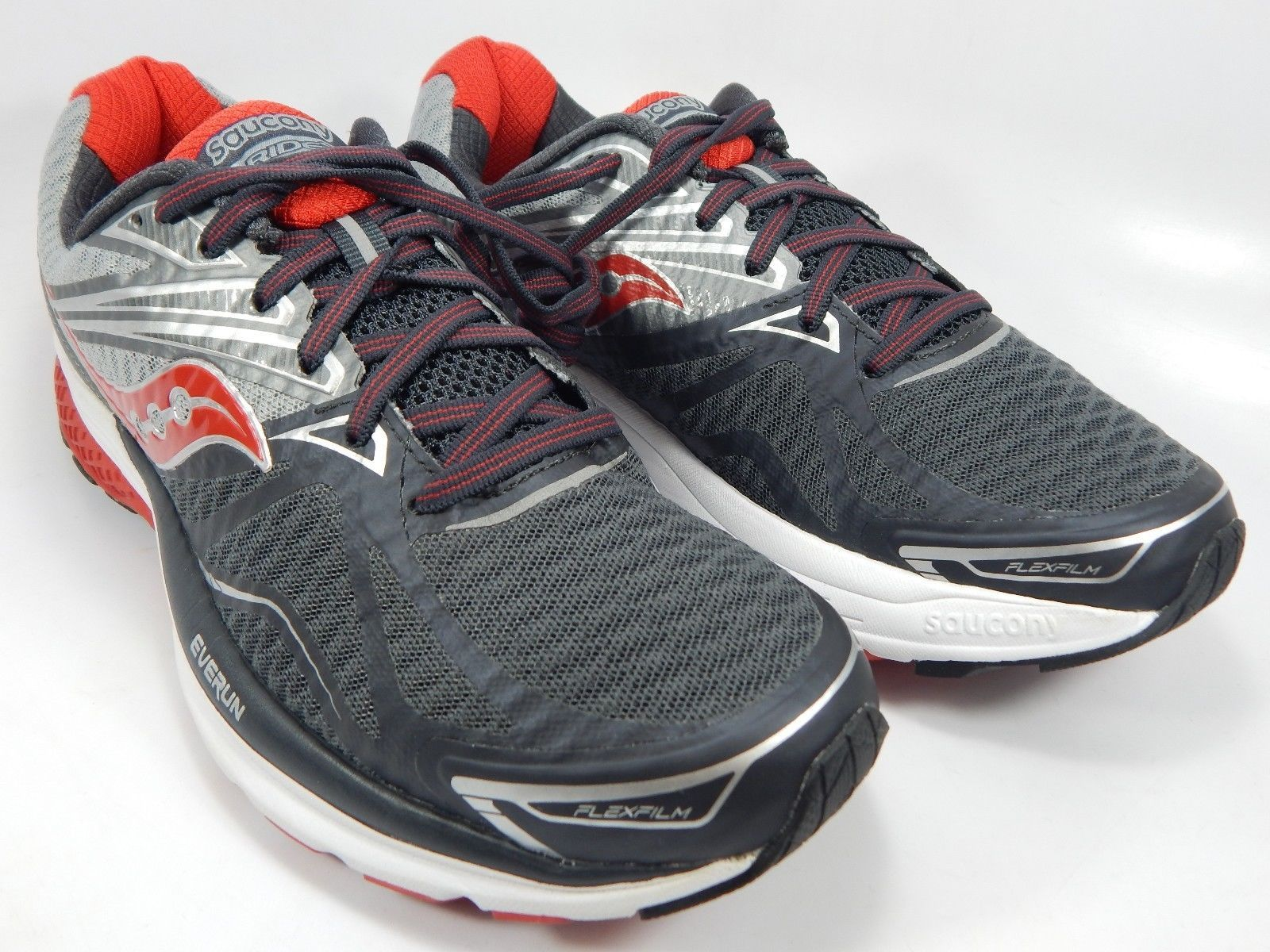 Saucony Ride 9  Men's Running Shoes Size US 9 M (D) EU 42.5 Gray Red S20318-1
