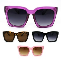 Womens XL Oversize Horned Rim Thick Plastic Retro Sunglasses - $9.95