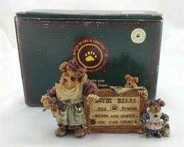 Boyds Bears & Friends Tessa Ben Cissie Sign of the Times 2299 w/ Original Box - $13.45