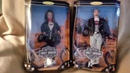 1998 NIB Collector Edition HARLEY-DAVIDSON  Barbie & Ken 22256 & 22255  - $144.16