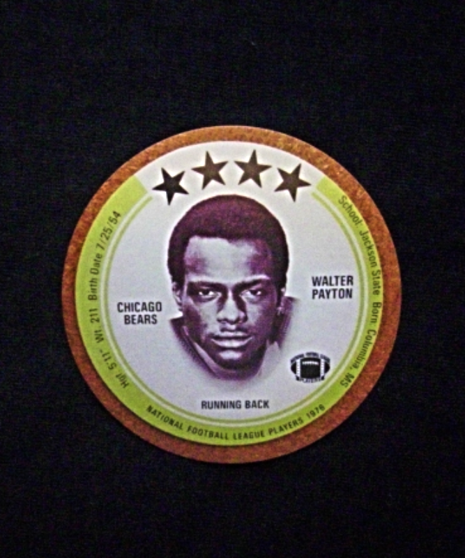 1976 Saga Football Disc [] Walter Payton [Chicago Bears] Rookie (SM-RP)