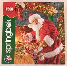 Springbok Christmas puzzle Santa's Return 1500 piece 1JIG15493 Santa Cla... - $8.00