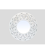 Decorative & Hand Carved Indian Round Shabby Chic Wall Mirror. Size : 24... - $126.48