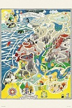*1000 piece jigsaw puzzle Moomin map of Moomin Valley (50x75cm) - $25.55