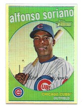 2008 Topps Heritage Chrome Refractor Alfonso Soriano Parallel Insert Car... - $1.98