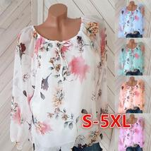 Loosely Layered Floral Peasant Blouse - $15.70