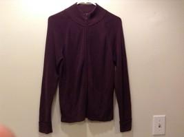 Covington Ladies Dark Purple Zip Up Jacket Sz M 10-12
