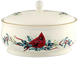 Lenox Winter Greetings Oval Footed Covered Casserole Dish 64 oz. New - $49.90
